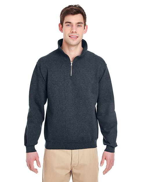 Jerzees 4528 Men 9.5 Oz. 50/50 Super Sweats Nublend Fleece Quarter-Zip Pullover at GotApparel