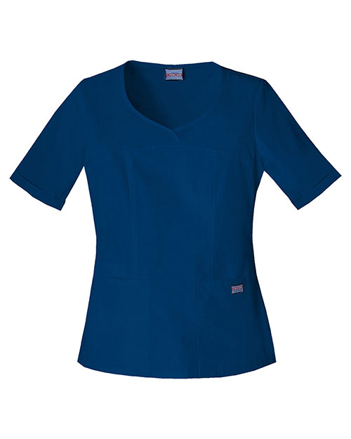 Cherokee Workwear 4746 Women V-Neck Top at GotApparel