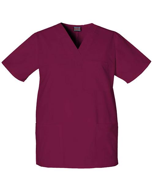 Cherokee Workwear 4876 Unisex V-Neck Top at GotApparel