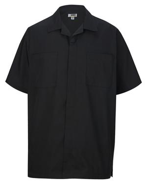 Edwards 4889 Men Zip Front House Keeping Short-Sleeve Service Shirt at GotApparel