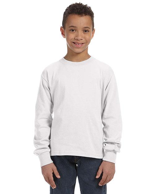 Fruit Of The Loom 4930B Boys 5 Oz. 100% Heavy Cotton Hd Long-Sleeve T-Shirt at GotApparel