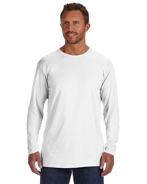 Hanes 498L Men 4.5 Oz. 100% Ringspun Cotton Nano-T Long-Sleeve T-Shirt at GotApparel