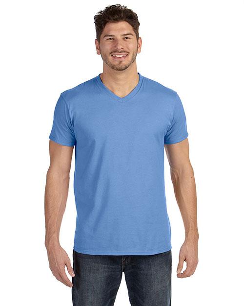 Hanes 498V Men 4.5 Oz. 100% Ringspun Cotton Nano-T V-Neck T-Shirt at GotApparel