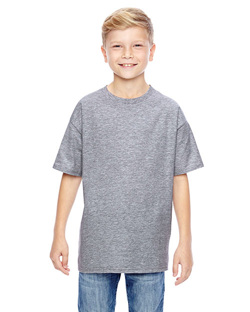 Hanes 498Y Boys 4.5 Oz. 100% Ringspun Cotton Nano-T  T-Shirt at GotApparel
