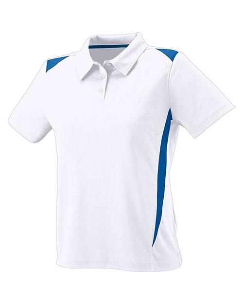 Augusta 5013 Women Premier Coaching Striped Polo Sport Shirt at GotApparel