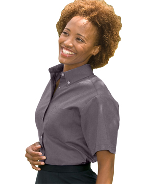 Edwards 5027 Women Button-Down Collar Oxford Shirt at GotApparel