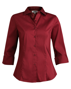 Edwards 5033 Women Tailored 42433 Sleeve Stretch Collar Blouse at GotApparel