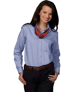 Edwards 5077 Women Easy Care Long-Sleeve Oxford Dress Shirt at GotApparel