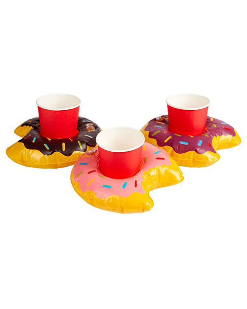 Smiffys 50886 Unisex Inflatable Donut Drink Holder Ring, Assorted at GotApparel