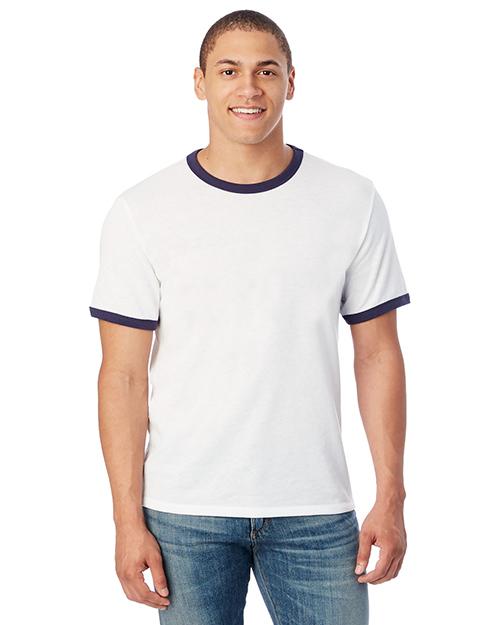 Custom Embroidered Alternative Apparel 5103BP Men 4.4 oz. Keeper Ringer T-Shirt at GotApparel