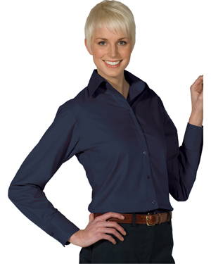 Edwards 5295 Women Poplin Long-Sleeve Blouse at GotApparel