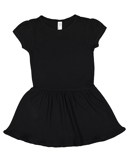 Rabbit Skins 5323 Toddler 5 oz. Baby Rib Dress at GotApparel
