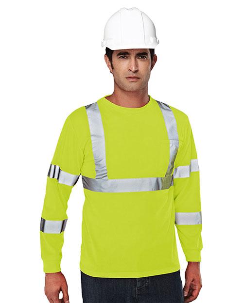 Tri-Mountain 533 Men 100% Polyester Safety Shirt at GotApparel