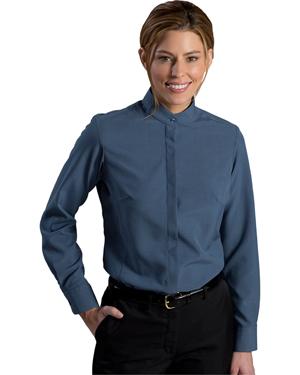 Edwards 5392 Women Batiste Banded Collar Long-Sleeve Shirt at GotApparel
