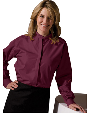 Edwards 5396 Women Banded Collar Long-Sleeve Shirt at GotApparel