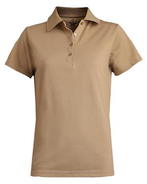 Edwards 5500 Women Short-Sleeve Pique Polo Shirt at GotApparel