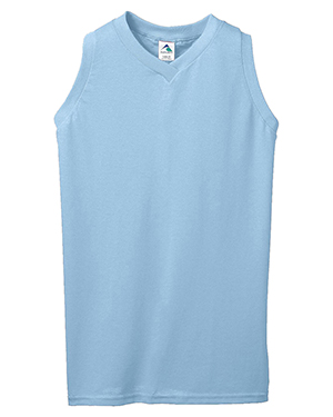 Augusta 557 Girls Sleeveless V-Neck Poly/Cotton Jersey at GotApparel