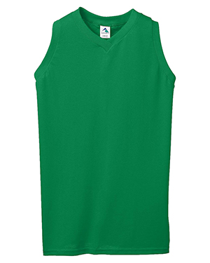 Augusta 557 Girls Sleeveless V-Neck Poly/Cotton Jersey at GotApparel