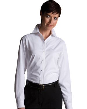 Edwards 5750 Women Cotton Plus Twill Long-Sleeve Shirt at GotApparel