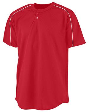 Augusta 585 Men Wicking 2-Button Baseball Jersey at GotApparel
