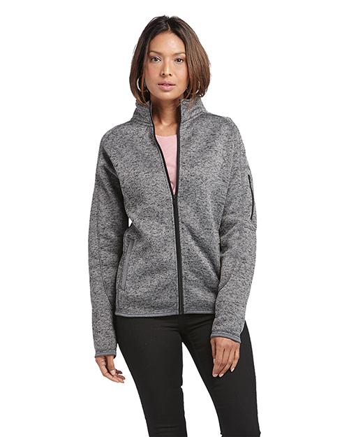 Burnside 5901 Women Ladies' Sweater Knit Fleece Jacket at GotApparel