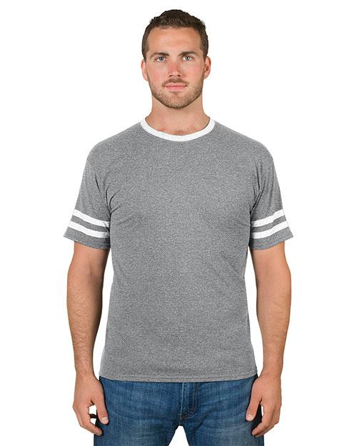 Jerzees 602MR Men 4.5 oz. TRI-BLEND Varsity Ringer T-Shirt at GotApparel