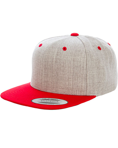 Yupoong 6089MT Unisex Heather Two-Tone Adjustable Wool Cap at GotApparel