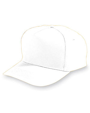 Augusta 6207 Boys FivePanel Cotton Twill Cap at GotApparel