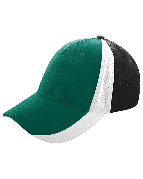 Augusta 6247 Men Sport Flex 3-Color Athletic Mesh Cap at GotApparel