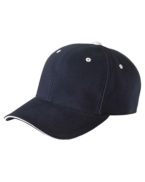 Yupoong 6262S Unisex Brushed Cotton Twill 6-Panel Mid-Profile Sandwich Cap at GotApparel