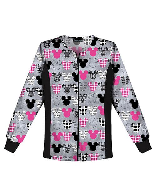 Tooniforms 6315C Women Zip Front Knit-Panel Warm-Up Jacket at GotApparel