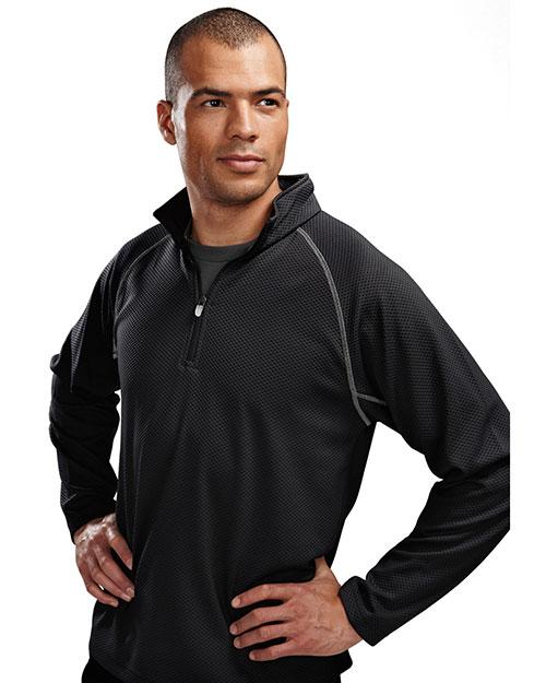 TM Performance 638 Men's 1/4-Zip Long-Sleeve Knit Pullover Shirt at GotApparel