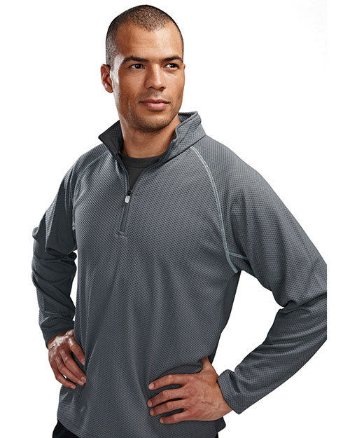 TM Performance 638 Men's 1/4-Zip Long-Sleeve Knit Pullover Shirt at GotApparel