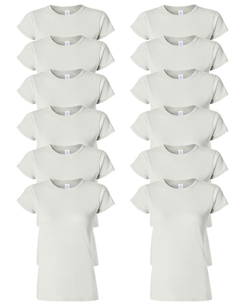 Gildan G640L Women Softstyle 4.5 Oz. Fit T-Shirt 12-Pack at GotApparel