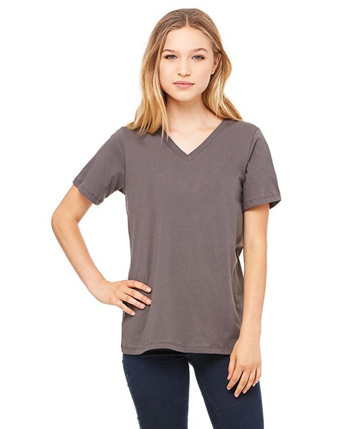 Bella + Canvas 6405 Women Missys Relaxed Jersey Short-Sleeve V-Neck T-Shirt at GotApparel
