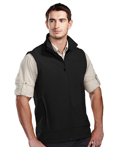 Tri-Mountain 6440 Men Zeneth Poly Stretch Bonded Soft Shell Vest at GotApparel