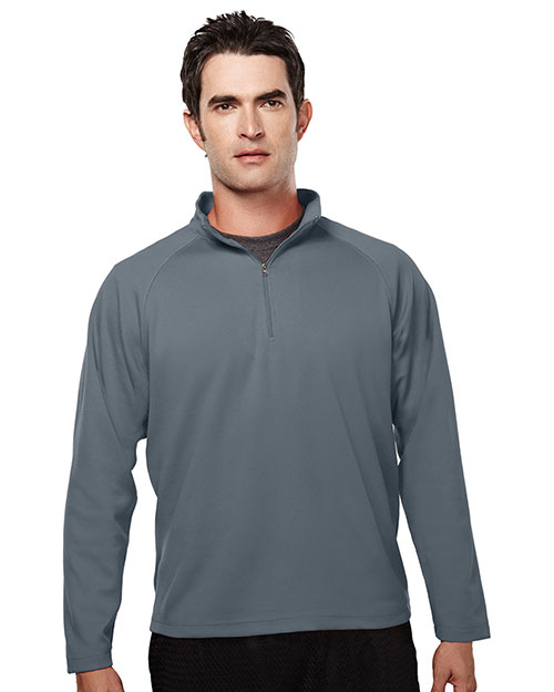 TM Performance 655 Men's Ultracool Pique 1/4-Zip Pullover Shirt at GotApparel