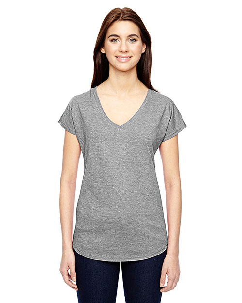 Anvil 6750VL Women Tri-Blend V-Neck T-Shirt at GotApparel