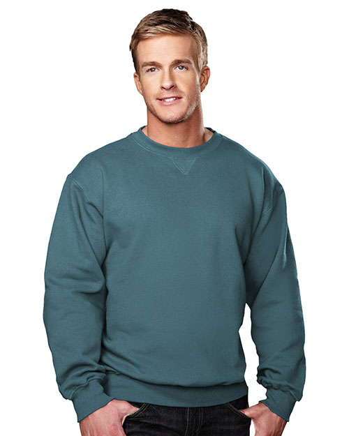 Tri-Mountain 680 Men Aspect Sueded Finish Crewneck Sweatshirt at GotApparel