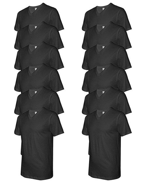 Lat 6907 Men Fine Jersey V-Neck Short-Sleeve T-Shirt 12-Pack at GotApparel