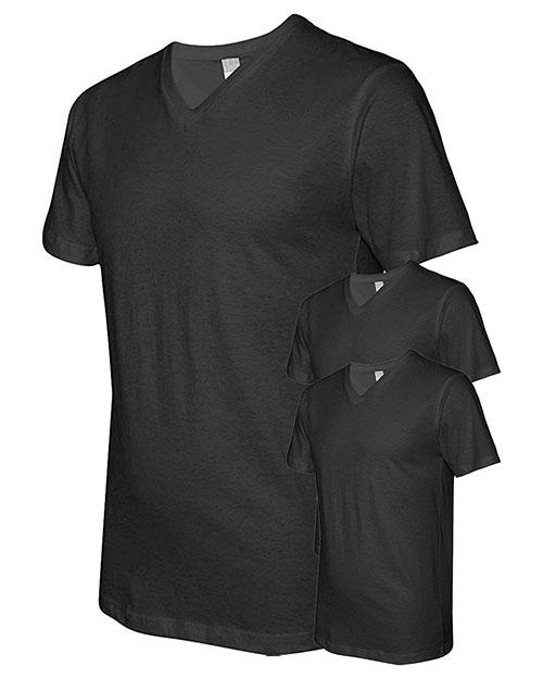 Lat 6907 Men Fine Jersey V-Neck Short-Sleeve T-Shirt 3-Pack at GotApparel