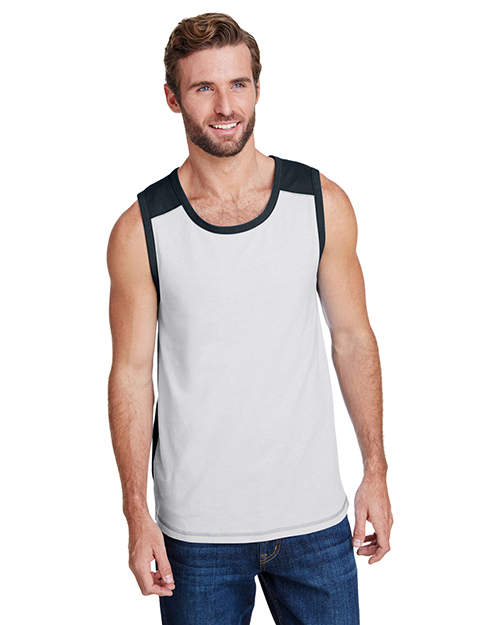 LAT 6919 Men 4.5 oz Contrast Back Tank at GotApparel
