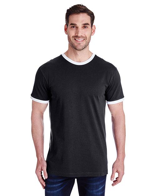 LAT 6932 Men 4.5 oz Soccer Ringer Fine Jersey T-Shirt at GotApparel