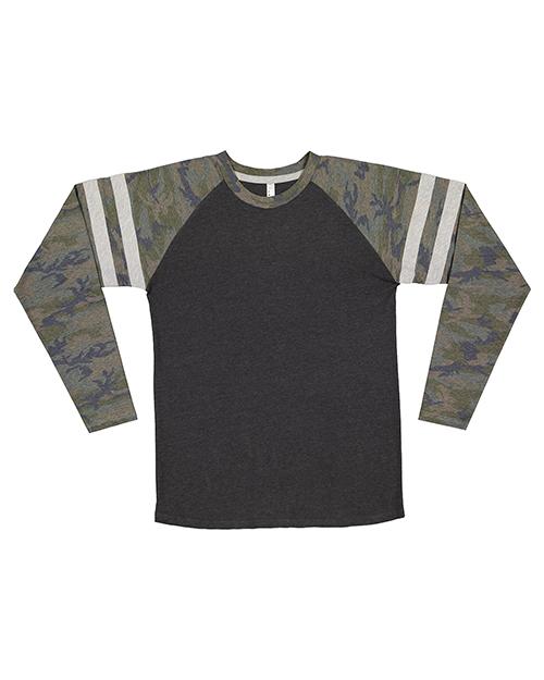 LAT 6934 Men 4.5 oz Gameday Mash Up Long-Sleeve T-Shirt at GotApparel