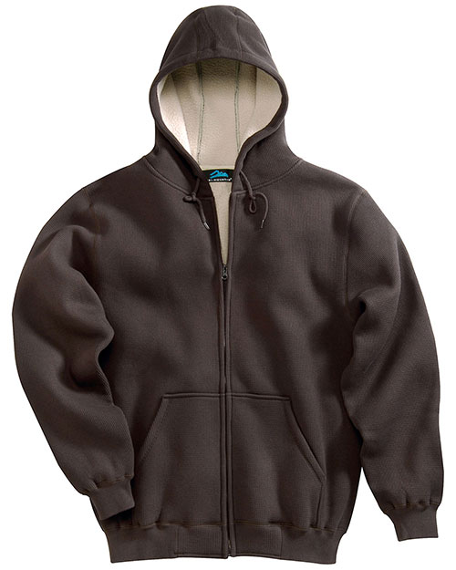 Tri-Mountain 697 Men Marshall Thermal Full-Zip Hooded Sweatshirt at GotApparel