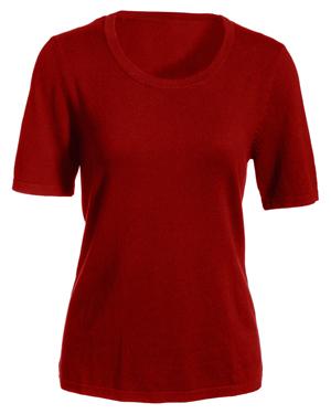 Edwards 7055 Women Short-Sleeve Scoop Neck Sweater at GotApparel