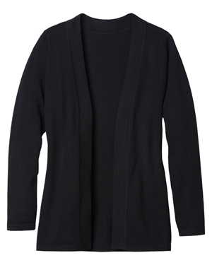 Edwards 7056 Women Long-Sleeve Hemmed Cuff Open Front Cardigan Sweater at GotApparel