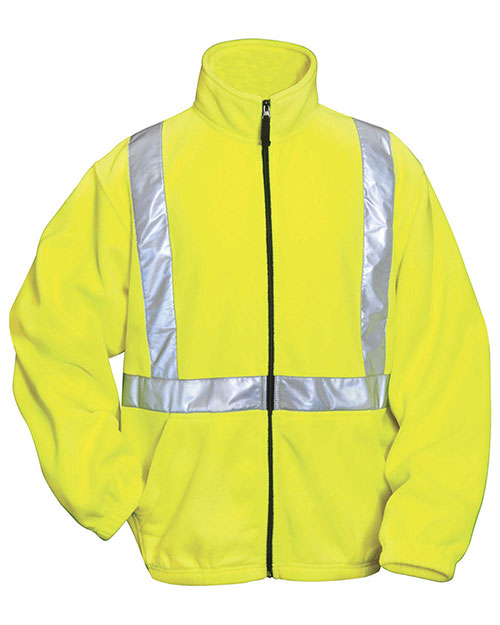 Tri-Mountain 7130 Men Precinct Anti Pilling Safety Fleece Jacket Ansi Class 2/Level 2 at GotApparel