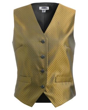 Edwards 7390 Women V-Neck Welt Pocket Brocade Vest at GotApparel