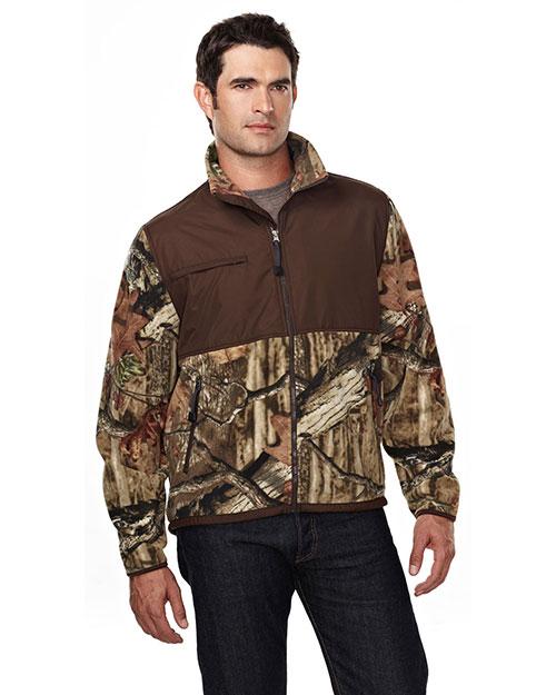 Tri-Mountain 7450C Men Frontiersman Camo Anti Pilling Fleece Jacket at GotApparel
